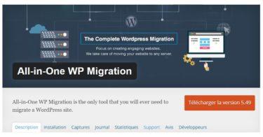Comment migrer un site WordPress avec un plugin ?