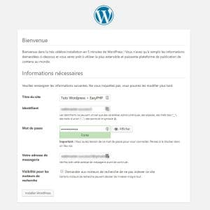 Tutoriel WordPress : Installation de WordPress sur EasyPHP