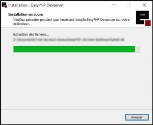 Tutoriel easyphp : Installation en cours