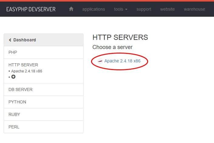 Tuto easyphp : Configuration serveur Apache
