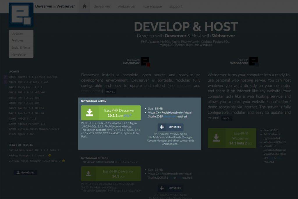 Tuto EasyPHP : Télécharger EasyPHP Devserver