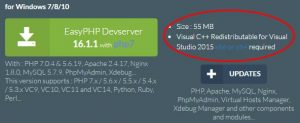 Tuto Easy PHP : Installer « Visual C++ Redistributable for Visual Studio 2015 »