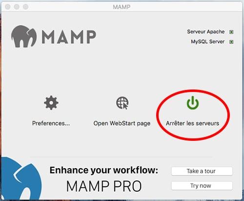 Démarrage MAMP sur Mac