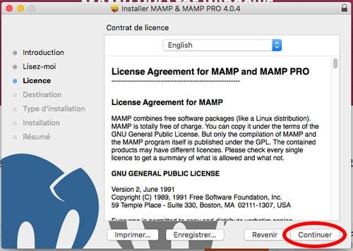 Installation de MAMP sur Mac
