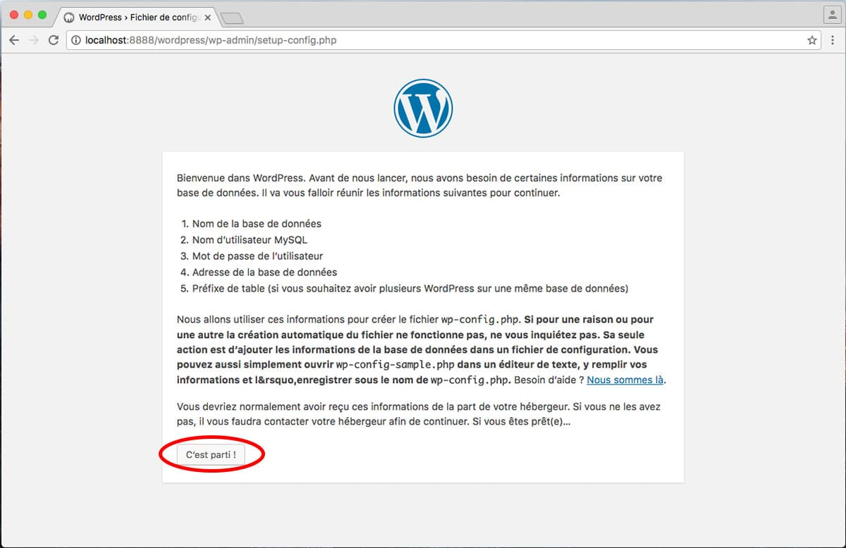 Installar site WordPress sur Mac