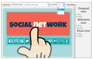 Social Image Resizer Tool - Recadrage image et format de sorti (JPG ; PNG ; GIF ; ICO)