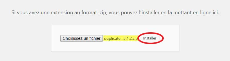 Installer le plugin WordPress .zip